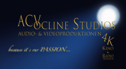 ACVocline Studios Imagefilme, Videoproduktionen, Tonstudio, Radio, Werbung